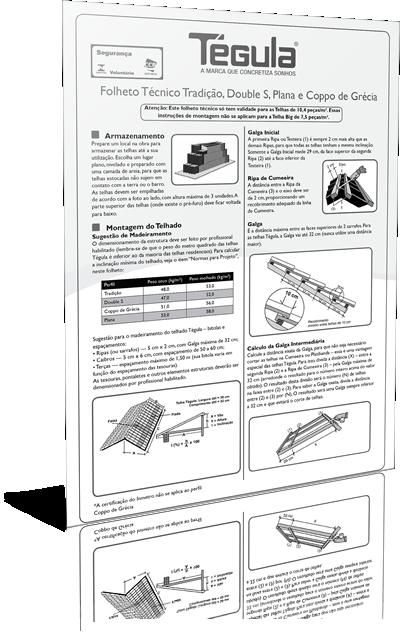 Folheto Técnico Tradição, Double S e Plana